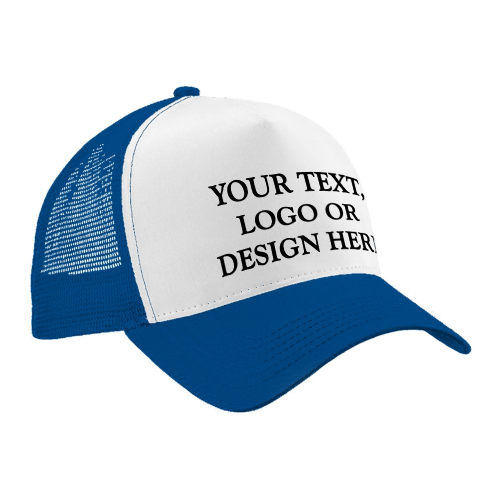 Personalised Child Trucker Style Cap / Hat - Any Name / Logo / Image